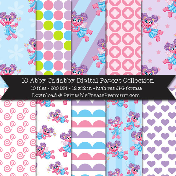 10 Abby Cadabby Digital Papers Collection