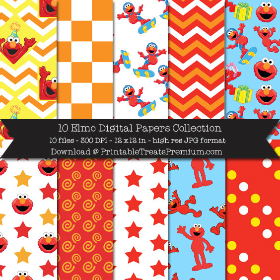 10 Elmo Digital Papers Collection