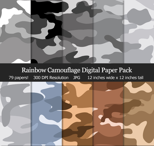 Love these camo digital papers for my scrapbook, cards and birthday parties!