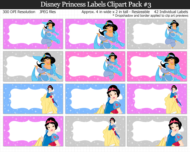 Love these Disney Princess labels for kids, school, and birthday parties!