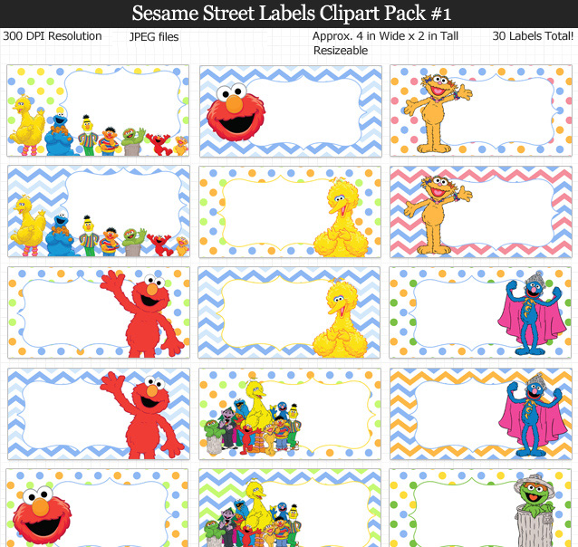 Love these Sesame Street labels for kids, school, and birthday parties!