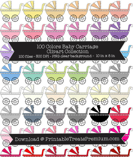 Baby Carriage Clip Art Pack