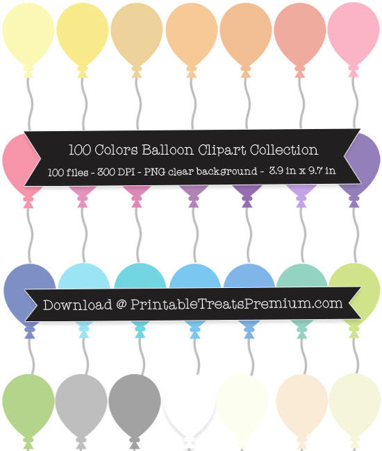Balloon Clip Art Pack