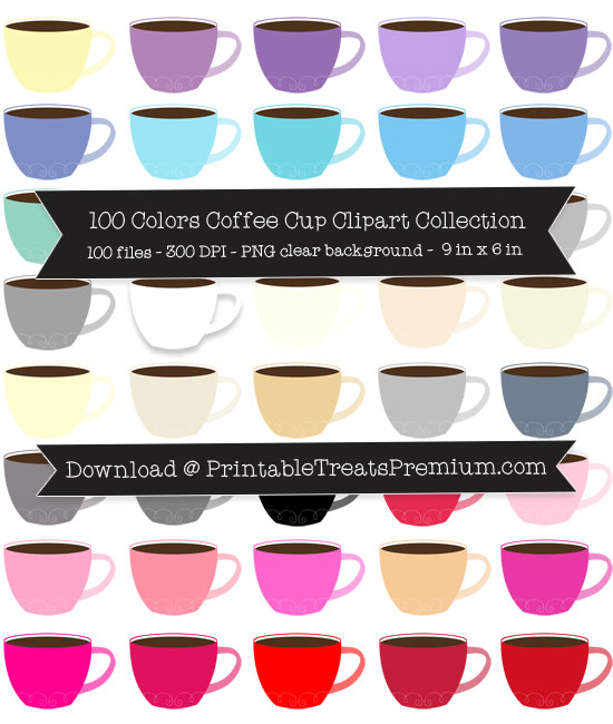 Coffee Cup Clip Art Pack