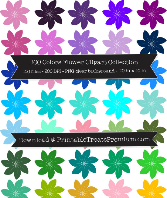 Flower Clip Art Pack