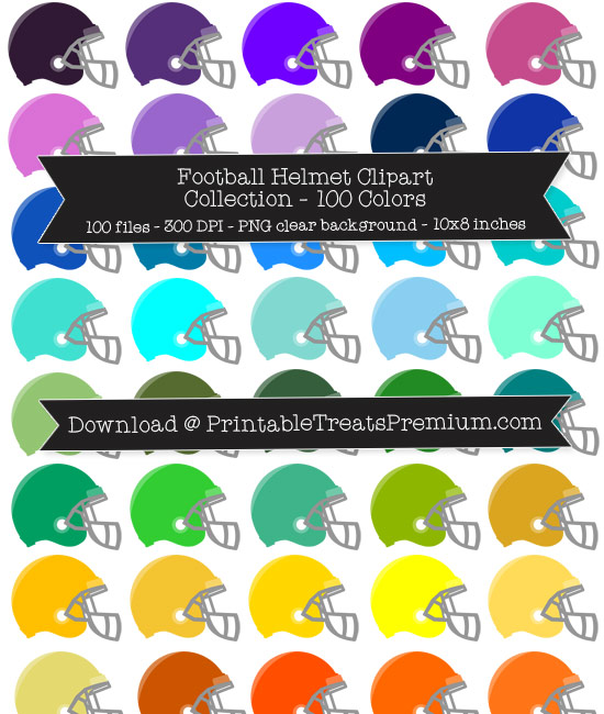 Football Helmet Clip Art Pack