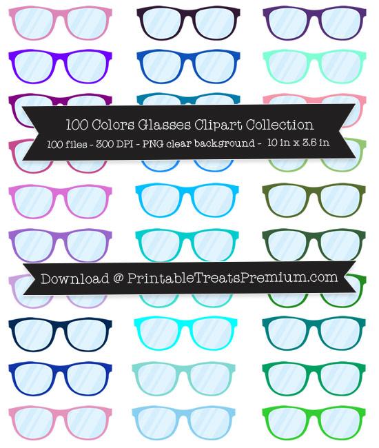 Glasses Clip Art Pack