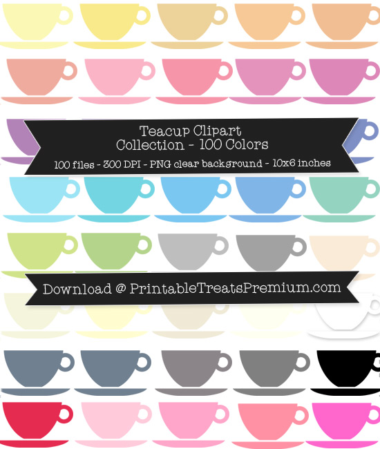 Teacup Clip Art Pack