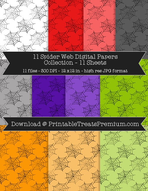 11 Spider Web Digital Papers Collection