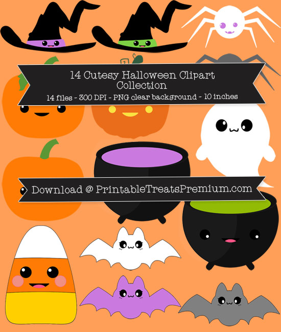 14 Cutesy Halloween Clipart Collection
