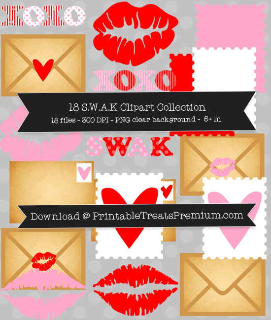 18 SWAK Clipart Collection