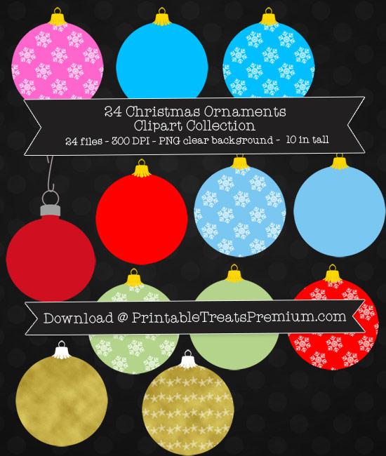 Christmas Ornaments Clip Art Pack
