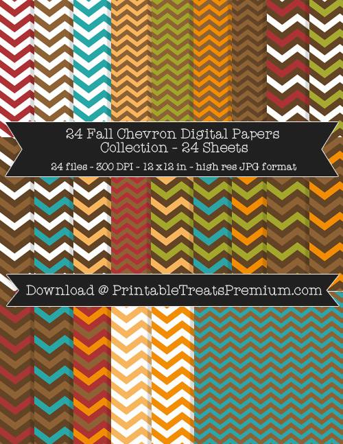 24 Fall Chevron Digital Papers Collection