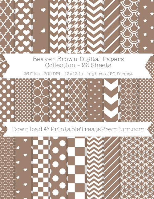 26 Beaver Brown Digital Papers Collection