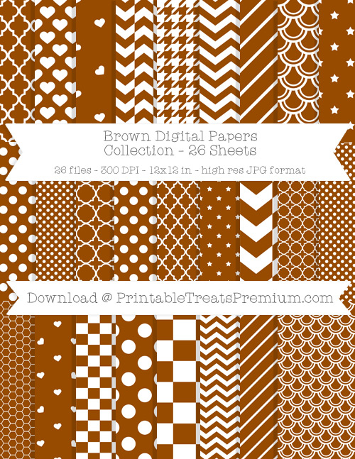 26 Brown Digital Papers Collection