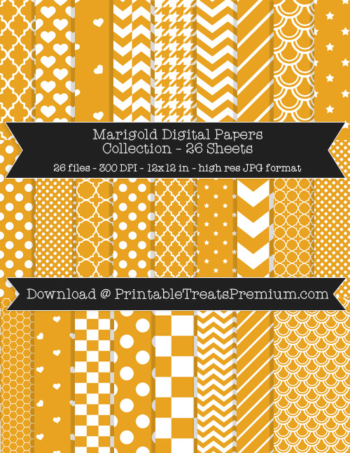 26 Marigold Digital Papers Collection