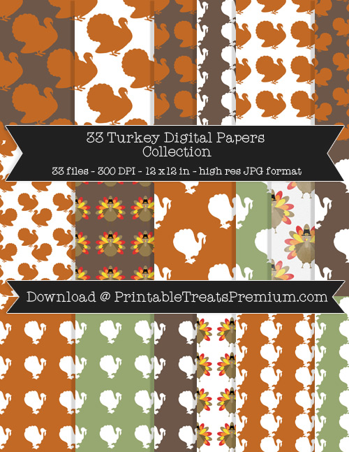 33 Turkey Digital Papers Collection
