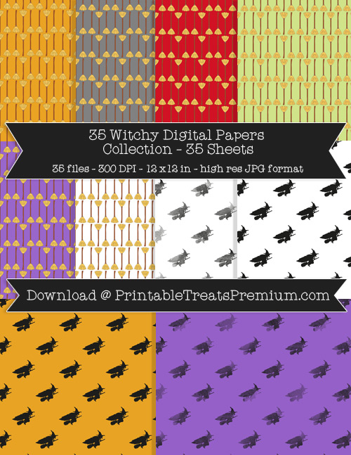 35 Witchy Digital Papers Collection