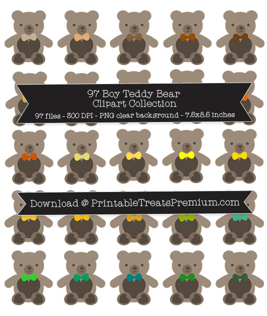 97 Boy Teddy Bear Clipart Collection