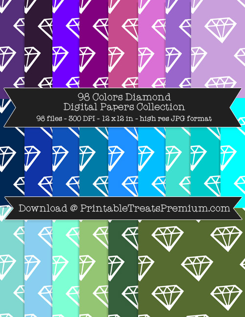 98 Colors Diamond Digital Papers Collection