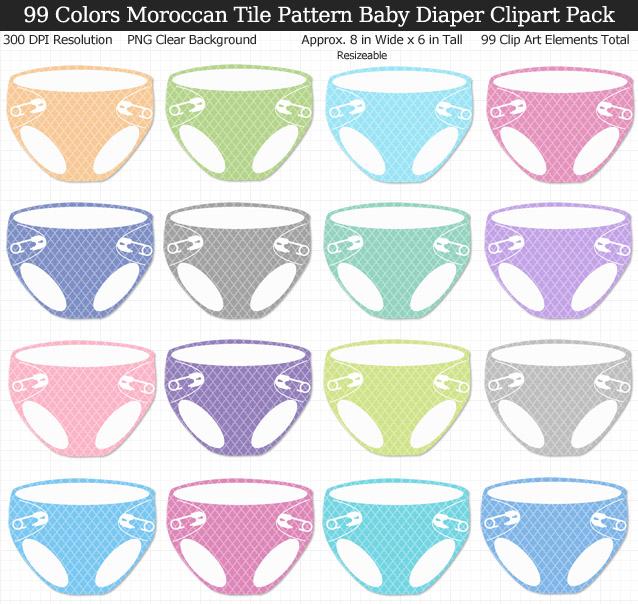 Baby Diaper Clip Art Pack