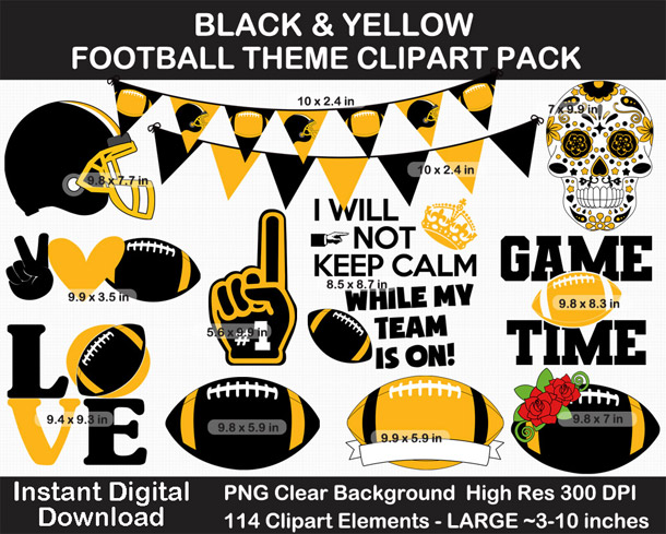 Love these fun football clipart! Go Steelers!