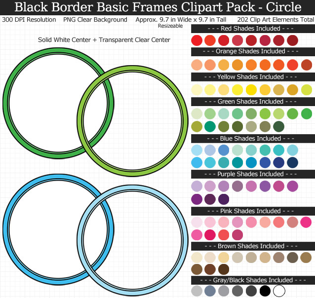 Circle Frames Clipart Pack