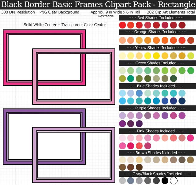 Rectangle Frames Clipart Pack