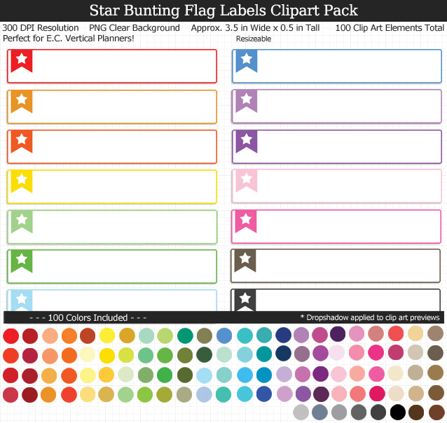 Love this cute set of star labels to organize my planner! 100 colors