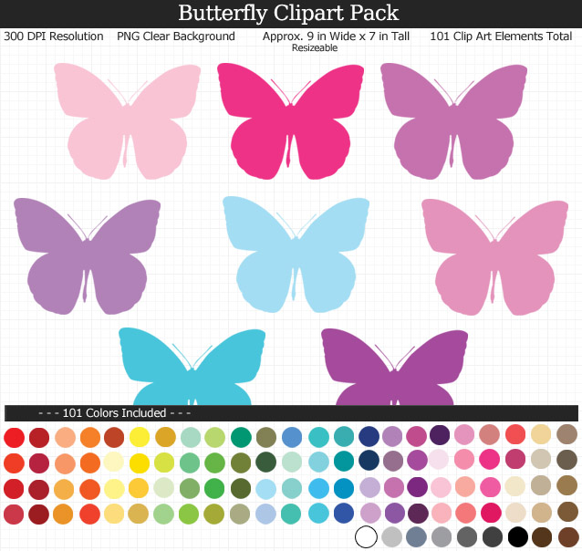 Giant Butterfly Clipart Pack