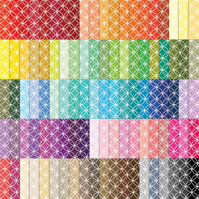 100 Colors Circle Lattice Digital Paper Pack