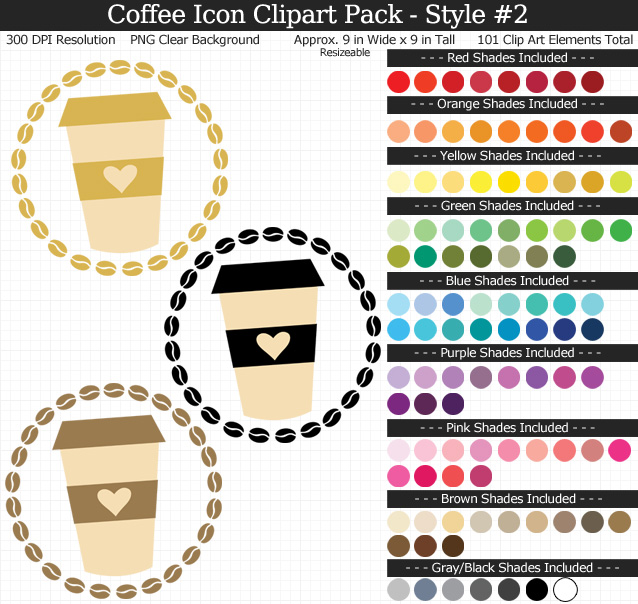 Coffee Icon Clipart Pack