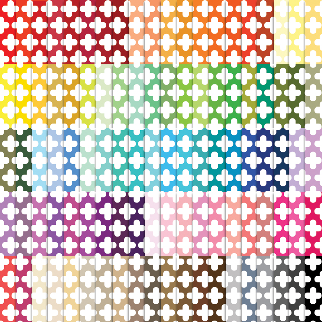 100 Colors Cross Digital Paper Pack