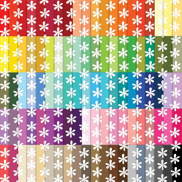 100 Colors Daisy Digital Paper Pack