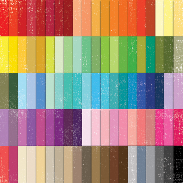100 Colors Distressed Digital Paper Pack