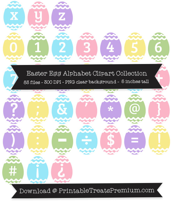 Easter Egg Alphabet Clipart Collection
