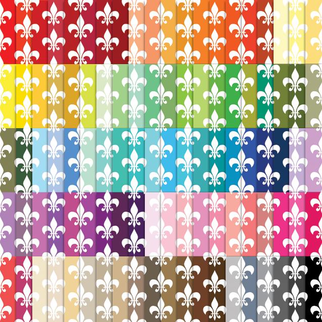 100 Colors Fleur de Lis Digital Paper Pack