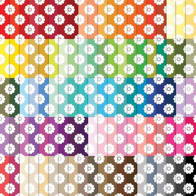 100 Colors Flowers Digital Paper Pack