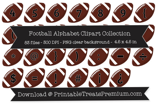 Football Alphabet Clipart Collection