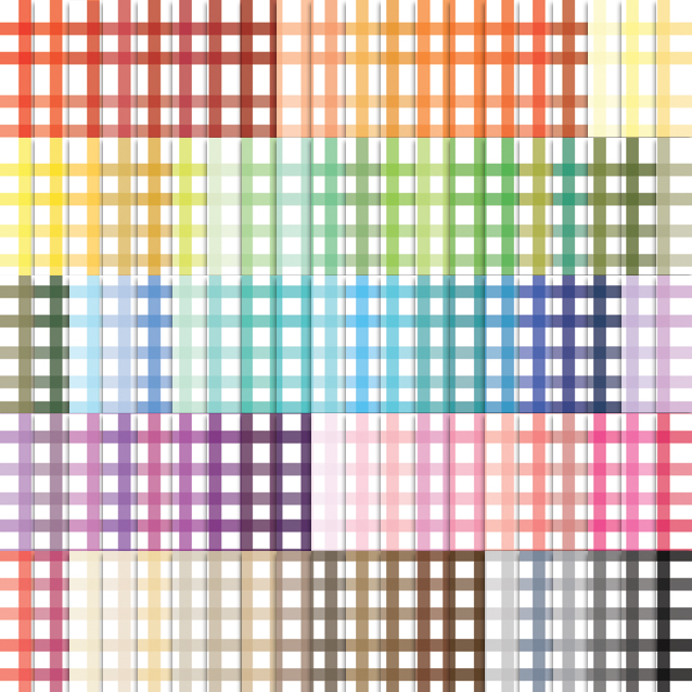 100 Colors Gingham Digital Paper Pack