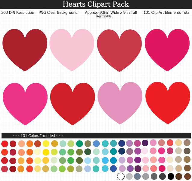 Hearts Clipart Pack