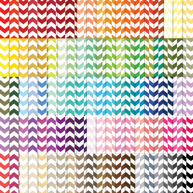 100 Colors Herringbone Digital Paper Pack