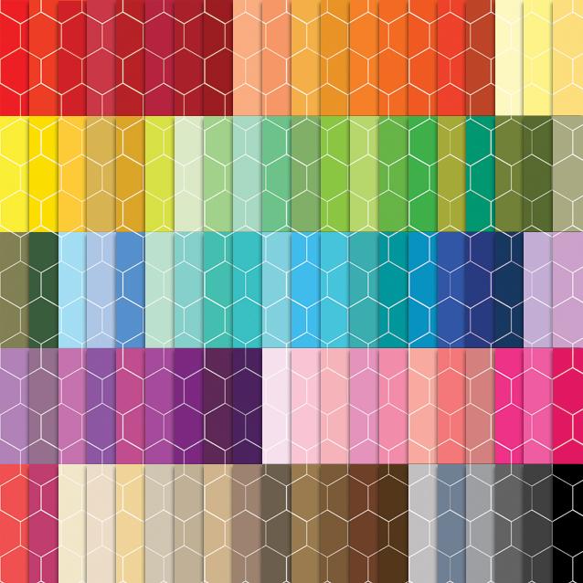 100 Colors Honeycomb Digital Paper Pack