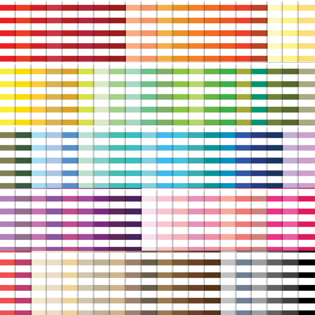 100 Colors Horizontal Stripes Digital Paper Pack