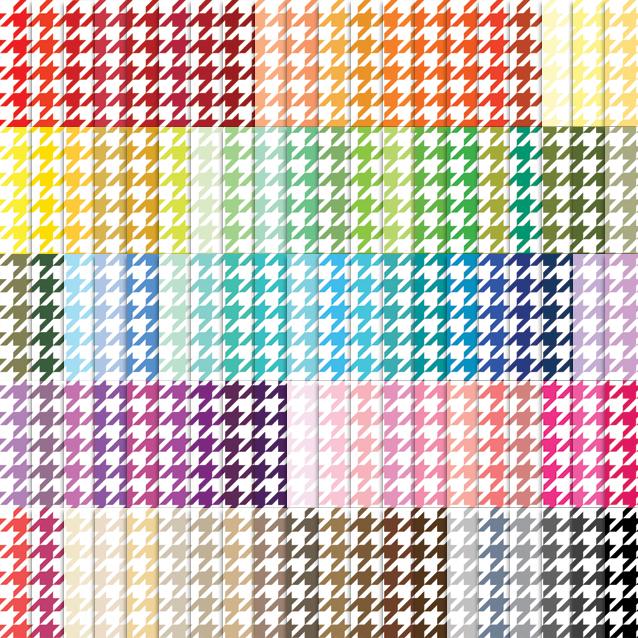 100 Colors Houndstooth Digital Paper Pack