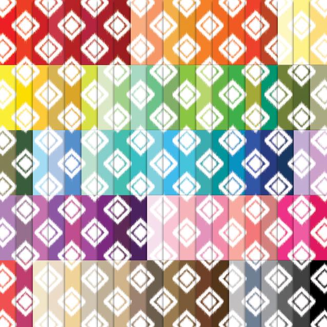 Ikat Diamond Digital Paper Pack - 100 Colors!