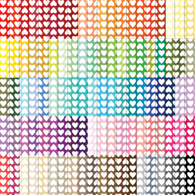 Lined Hearts Digital Paper Pack - 100 Colors!