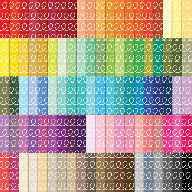 100 Colors Loops Digital Paper Pack