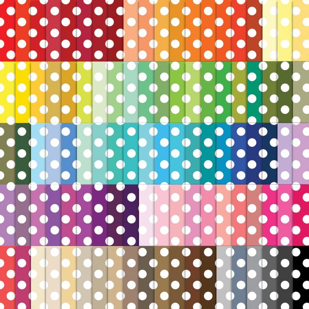 100 Colors Polka Dot Digital Paper Pack