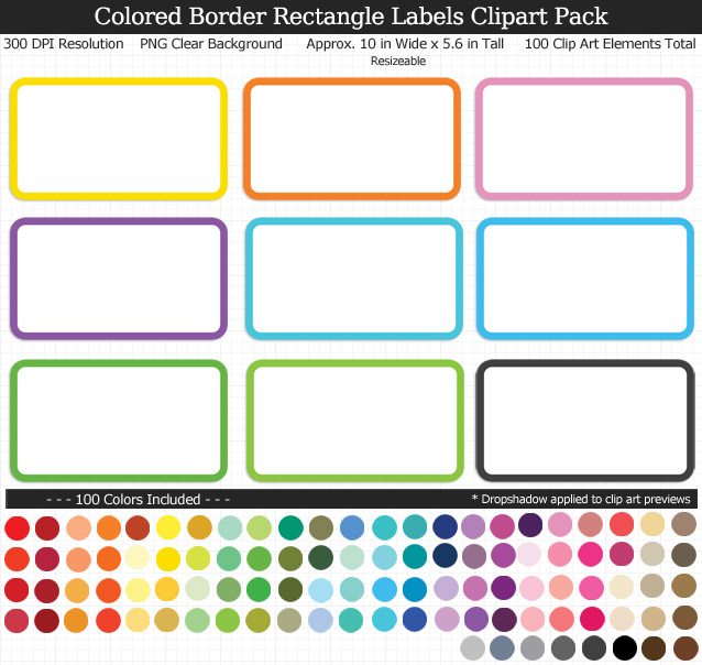 Rectangle Labels Clipart Pack